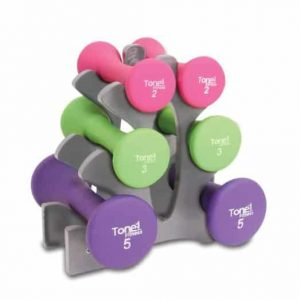 Tone Fitness 20lbs Hourglass Dumbbell Set