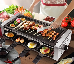 Electric Smokeless Grill and Hot Pots