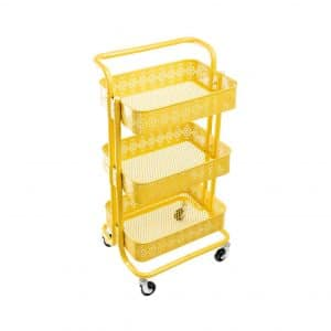 DOEWORKS Storage Cart 3 Tier Metal Utility Cart