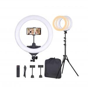 KAFiIN Ring Light 65W 22 Inches LED Ring Light Kit