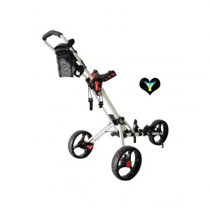 PLAYEAGLE Golf Push Cart Foldable 3 Wheels Cart