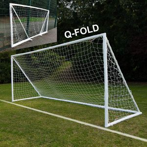 QUICKPLAY Q-Fold 16×7 feet Folding Soccer Goal for Kids and Adults
