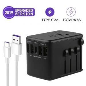 RUIZU Universal Travel Adapter Set