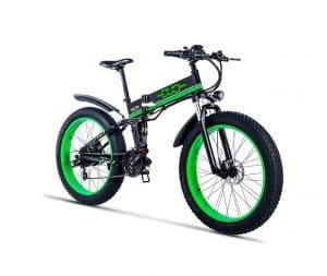 GUNAI Electric Mountain Bike with Lithium Battery (Green)