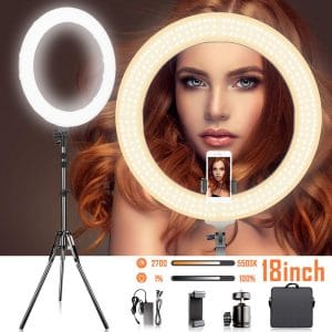 SAMATIAN 18-Inches LED Ring Light