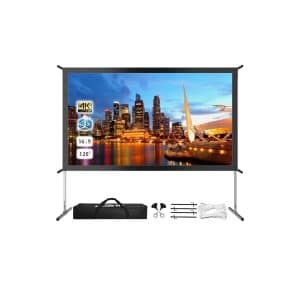 JWSIT 120-Inches 4K HD Screen with Stand