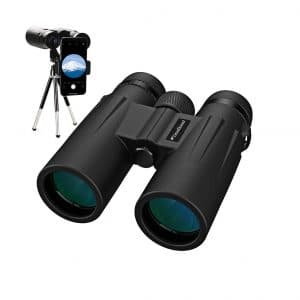 Usogood 12X50 Binoculars with Tripod, Waterproof and Compact Binoculars