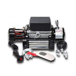 X-BULL 12V 12000 lb. Load Capacity Cable Electric Winch