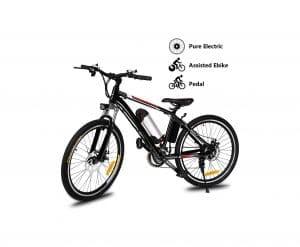 Yiilove Electric Mountain Bike – 21 Speed (Black)