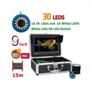 JIASHU 9 inch LCD Monitor Fishing DVR Video Camera