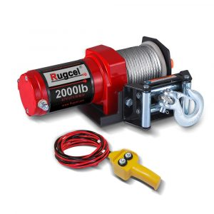 RUGCEL Electric Single Line 12V 2000lb Waterproof Winch