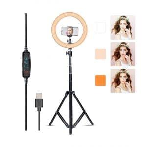 Villsure 10-Inches Selfie LED Ring Light