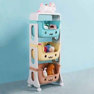 WillingHeart Kids Toy Storage 3 Tier Rolling Cart