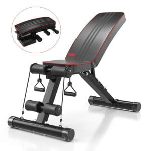 Yoleo Adjustable Weight Bench for Home Gym