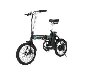 ANCHEER Folding Electric Bike, Lithium Battery (Black)