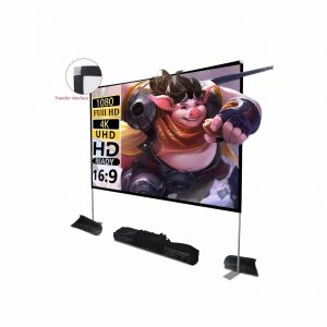 HOIN Projector Screen with Stand 100 Inches 4K Outdoor Projector