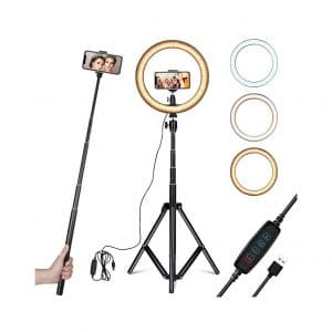 Amconsure 10-inch LED Ring Selfie Light