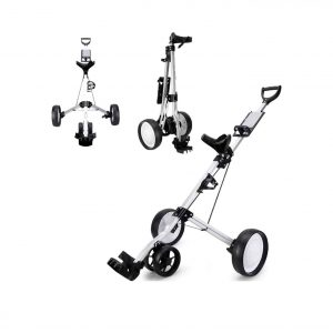 DailyValley Golf Pull Cart 4 Wheel Foldable Push Cart
