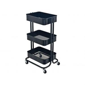 JANE EYRE 3 Tier Metal Rolling Storage Utility Cart