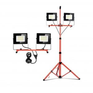 LED Portable Work Light with Tripod Stand Dual Head