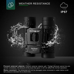 RIVMOUNT Binoculars for Adults with Carrying Bag & Strap