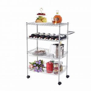 TOOLF Heavy Duty 4-Tier Storage Wire Racks Cart