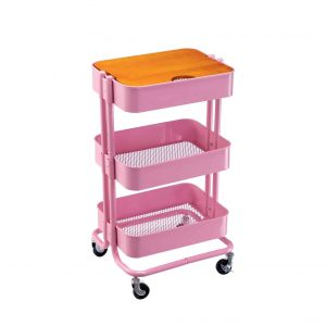 MATICO 3-Tier Metal Utility Cart Rolling Storage Shelve
