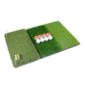 Perfshot Tri-Turf 3-in-1 Golf Hitting Mat