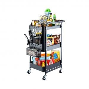 Titan Mall Metal Storage Rolling Cart