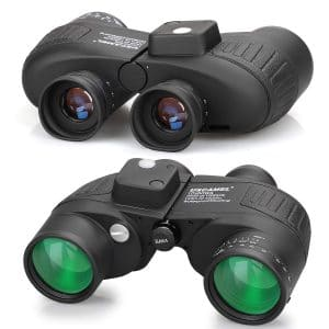 USCAMEL 10×50 Binoculars for Adults with Rangefinder Compass