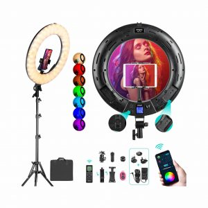 Weeylite 18 Inches RGB Ring Light Dimmable LED Light