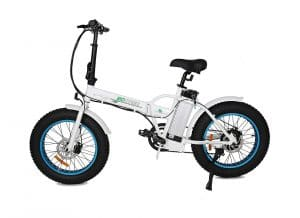 ECOTRIC 20″ Folding Electric Bike (White and Blue)