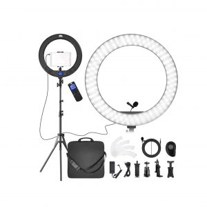 PIXEL Ring Light with Stand 19 Inches 60W Bi-Color Ring Light