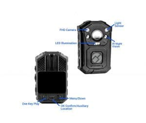 R-Tech HD Infrared Police Body Camera with 32GB In-built Memory