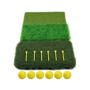 Timeina 3 In 1 Foldable Golf Practice Mat