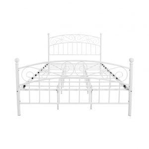 AUFANK Victorian Style Metal Bed Queen Platform