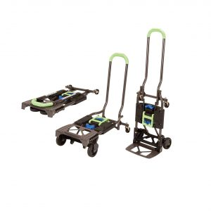 Cosco Multi-Position Foldable Hand Truck – 300-Pound Capacity, Green