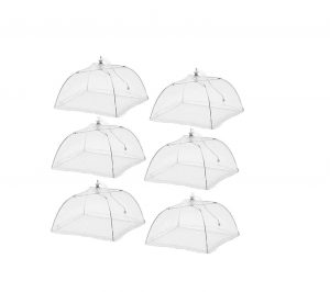 ESFUN Large Pop-Up (6 Pack) Mesh Screen Food Tent Keep Out Flies and Bugs