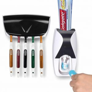 Maiile Wikor Toothbrush Holder with a Hands-Free Toothpaste Squeezer