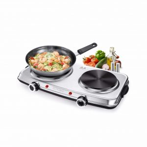 SUVANO 1800W Stainless Steel Electric Hot Plate
