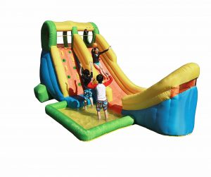 Sportspower Inflatable Half Pipe Outdoor Pool with Slide