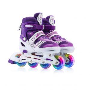 KEMI Kids Adjustable Inline Skates for Boys and Girls