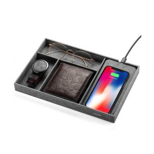 Lecone Fast Wireless Charger with Organizer Valet Tray