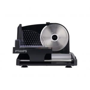 PTHHPS Meat Slicer Electric Food with Removable Stainless Steel Blade