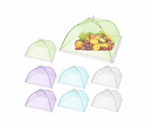 SPANLA Pop-Up Mesh 8 Pack Colored Screen Food Cover Tent