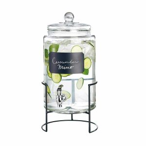 Style Setter 2-Gallon Glass Beverage Drink Dispenser