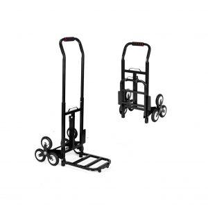 TUFFIOM Stair Climbing Hand Truck, 330lbs Weight Capacity – Rubber Tri-Wheels