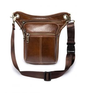 Vintage Leather Multi-Purpose Waist Pack Men Women Drop Leg Bag