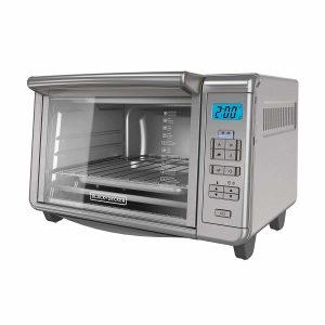 BLACK+DECKER 6-Slice Stainless Steel Digital Toaster Oven