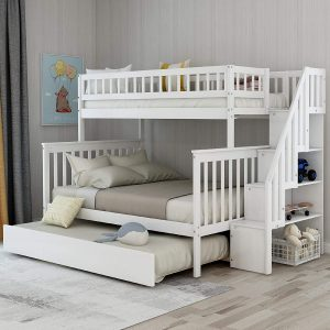 DERCASS Full Stairway Bunk Twin Loft Bed